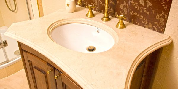 łazienki kamień naturalny granit marmur umywalka