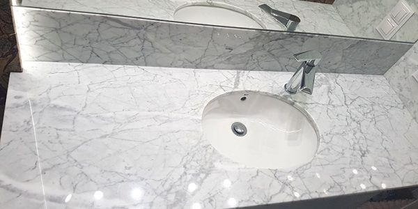 łazienki umywalka kamień naturalny granit marmur