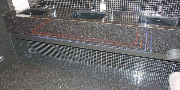 łazienki kamień naturalny granit marmur umywalki