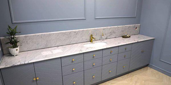 łazienki kamień naturalny granit marmur blat kamienny