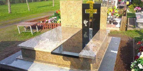 pomnik nagrobek z kamienia granitu