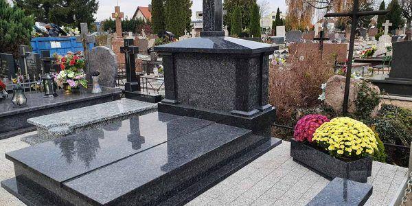 Pomniki nagrobki tablice z kamienia naturalnego granitu